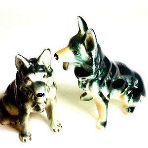 German Shepherd Figurine Pair Vintage dog collecti